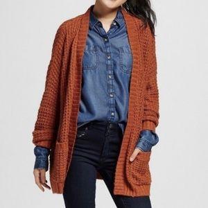 Mossimo Oversized Knit Cardigan Orange Size M